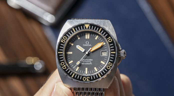 40mm Omega Seamaster 120 'Baby Proplof' with Orange Minute Hand ref. ST 166.0250, Circa mid-1970s (©Revolution)