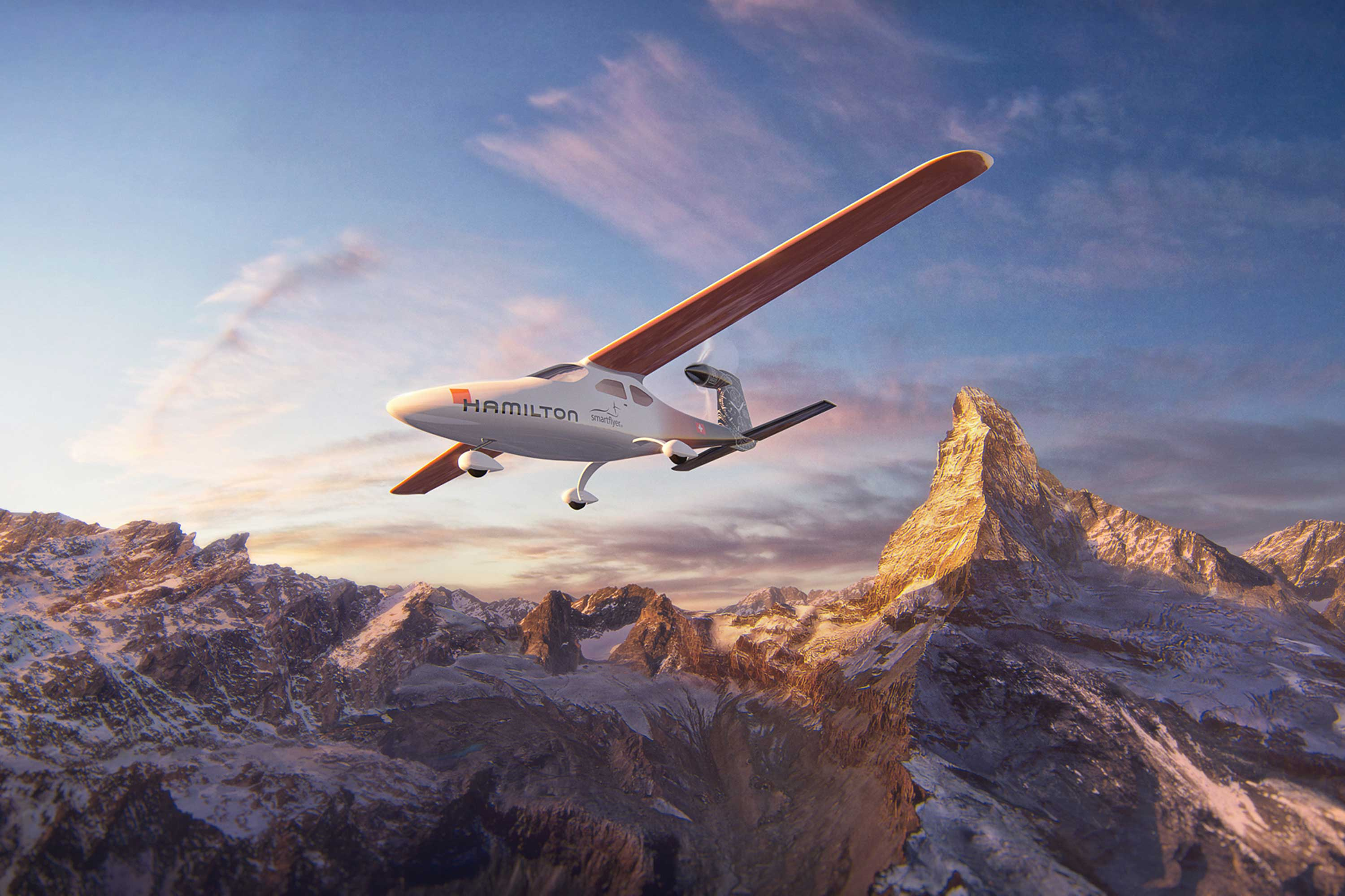The Smartflyer is a four-seat aircraft that uses electric technology to generate 50 percent less carbon dioxide, 60 percent less noise, and costs 33 percent less to fuel and maintain than traditional small planes.