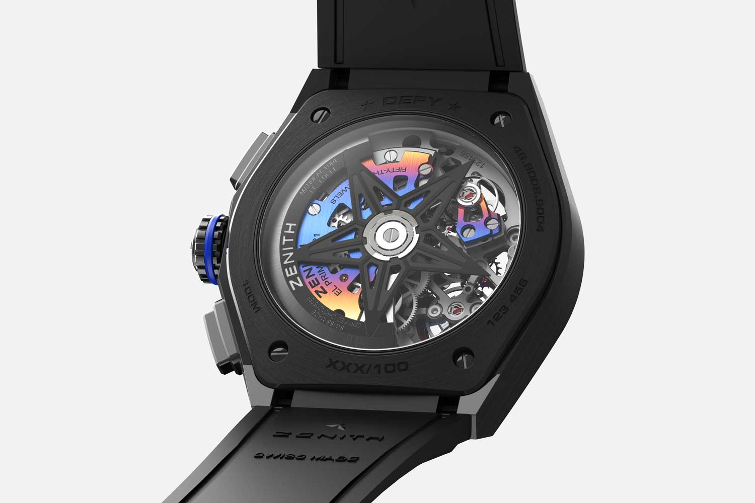 According to Felipe, the concept behind this watch was to transform it into a wearable work of kinetic art where time and light converge into a single object.