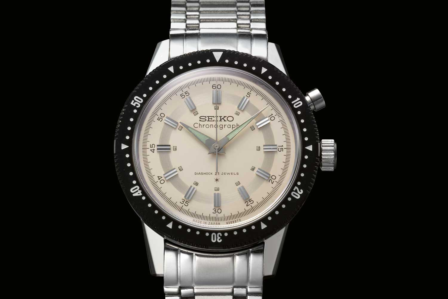 Seiko's first chronograph, the reference 5719A-45899 'Crown' Chronograph.