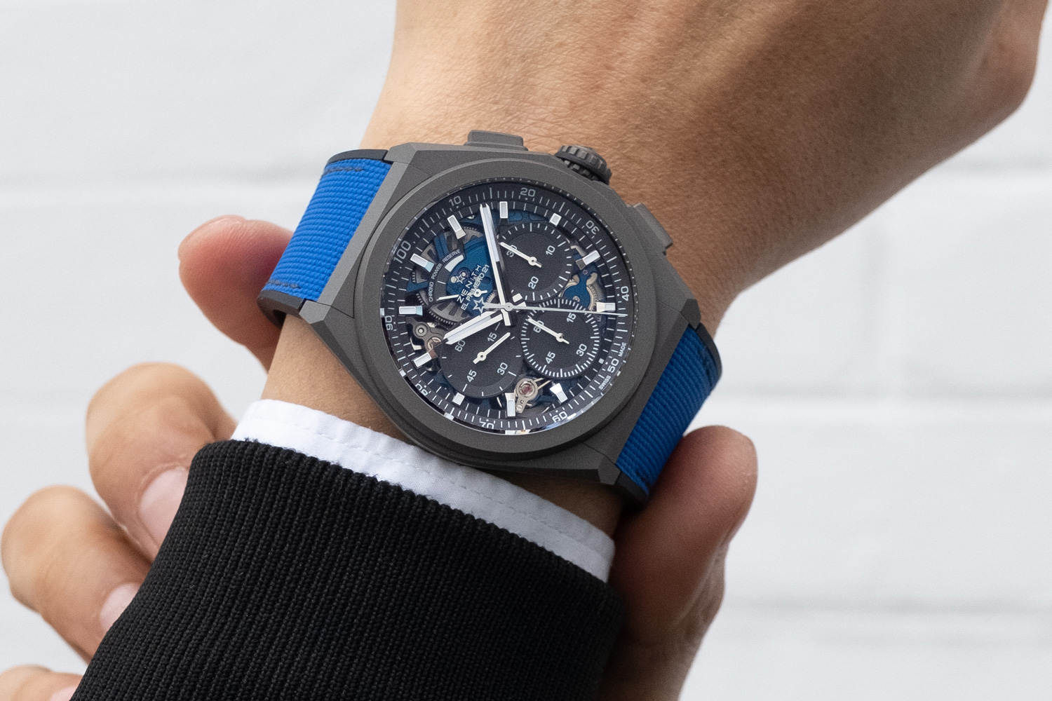 On the wrist: Zenith Defy 21 Ultraviolet