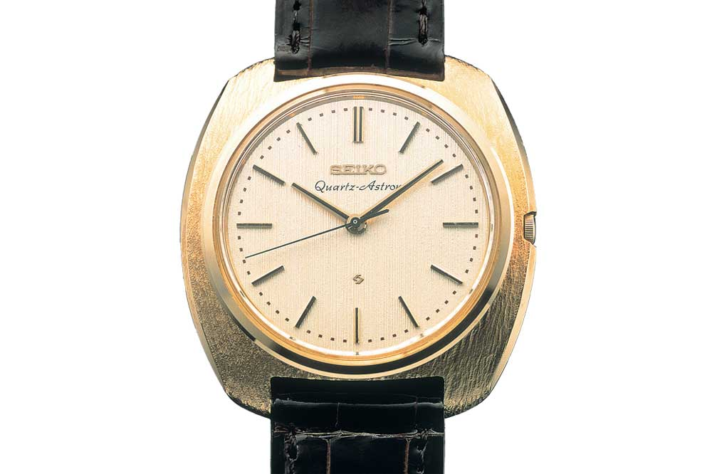 In December 1969, Seiko introduced the world's first quartz watch, the Astron.