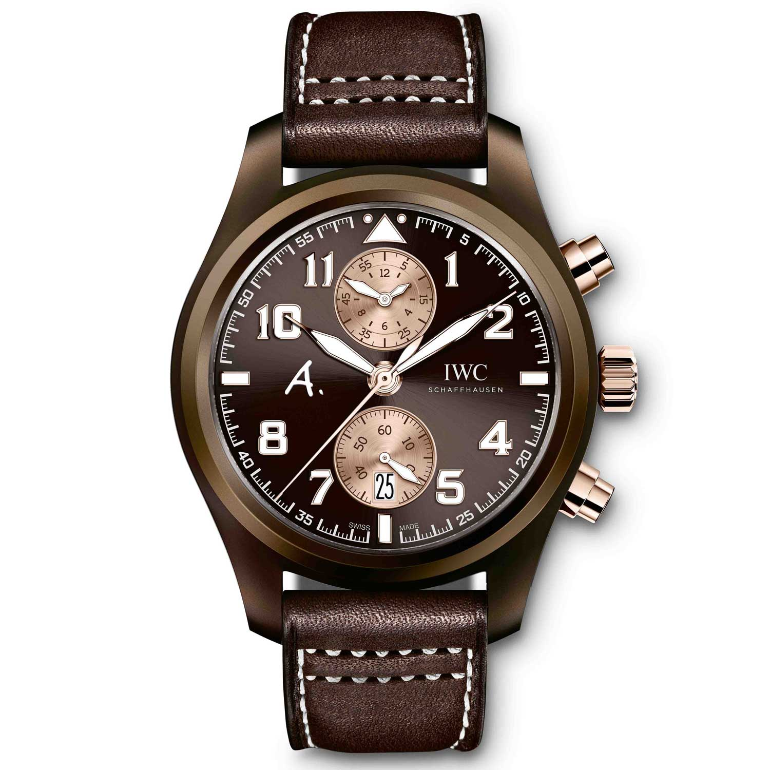 """IWC Pilot's Watch Chronograph Edition """"The Last Flight"""" commemorated the 70th anniversary Saint-Exupéry's last flight in 1944."""