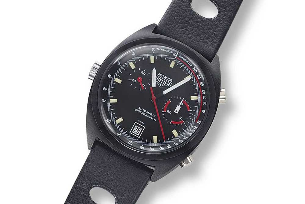 The Calibre 15 Heuer Monza watch was introduced after the Formula 1 title win by Niki Lauda in 1975