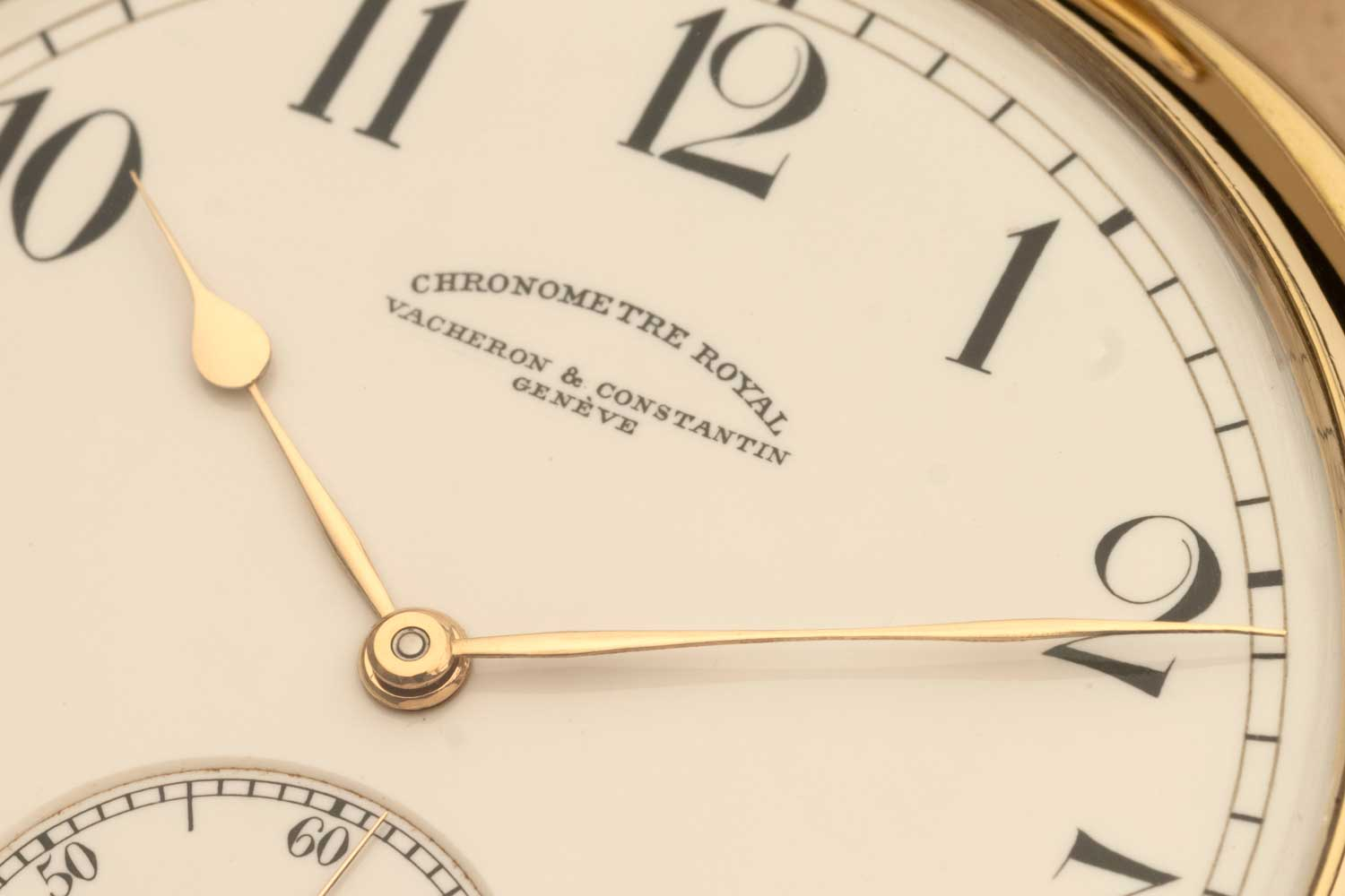 The Chronomètre Royal pocket watch on offer here remains in all its glory featuring a 18k yellow gold case, grand feu enamel dial that still looks remarkably vibrant for its 111 years if existence (©Revolution)