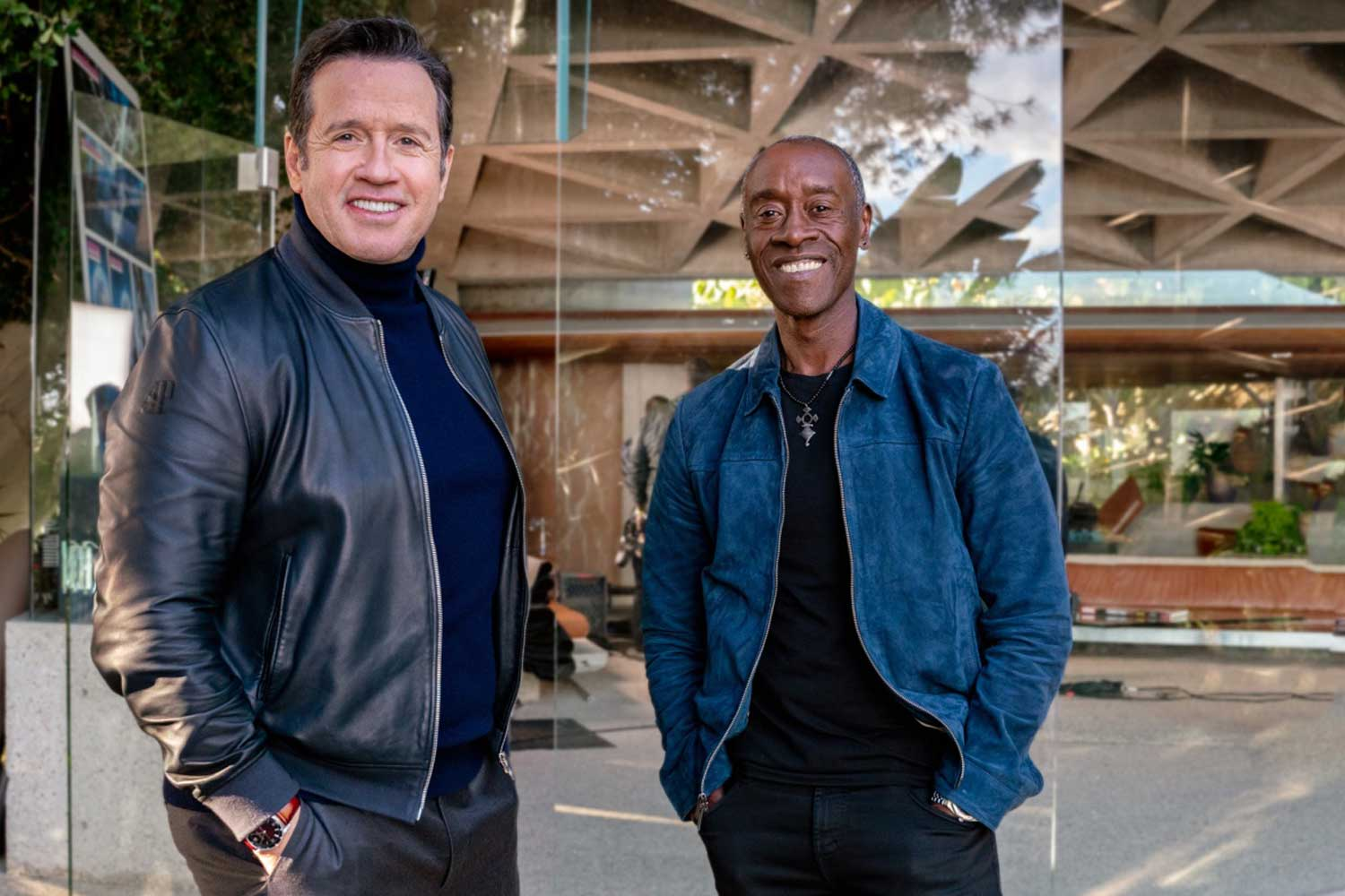 Audemars Piguet's François Bennahmias with actor Don Cheadle, who was instrumental in putting the brand's deal together with Marvel.
