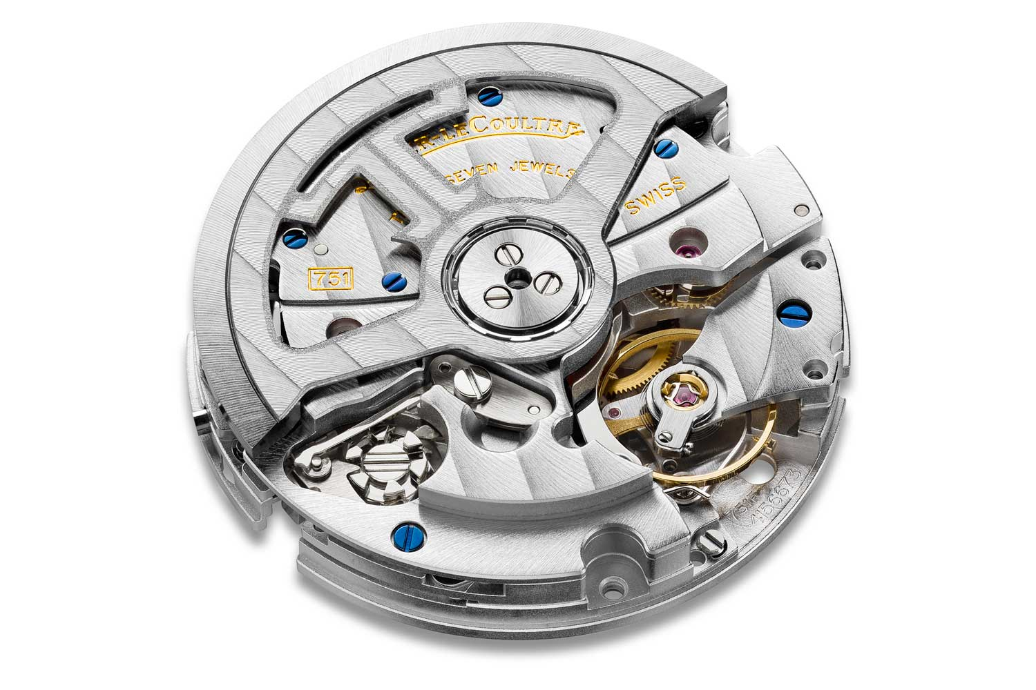 The Jaeger-LeCoultre self-winding chronograph caliber 751 was introduced in 2005. This column-wheel controlled, vertical clutch design chronograph was the brand's very first automatic chronograph.