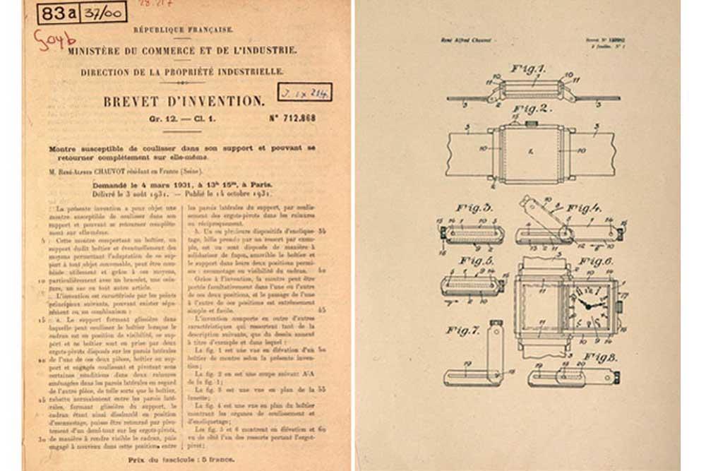 Bằng sáng chế cho Jaeger-LeCoultre Reverso từ năm 1931
