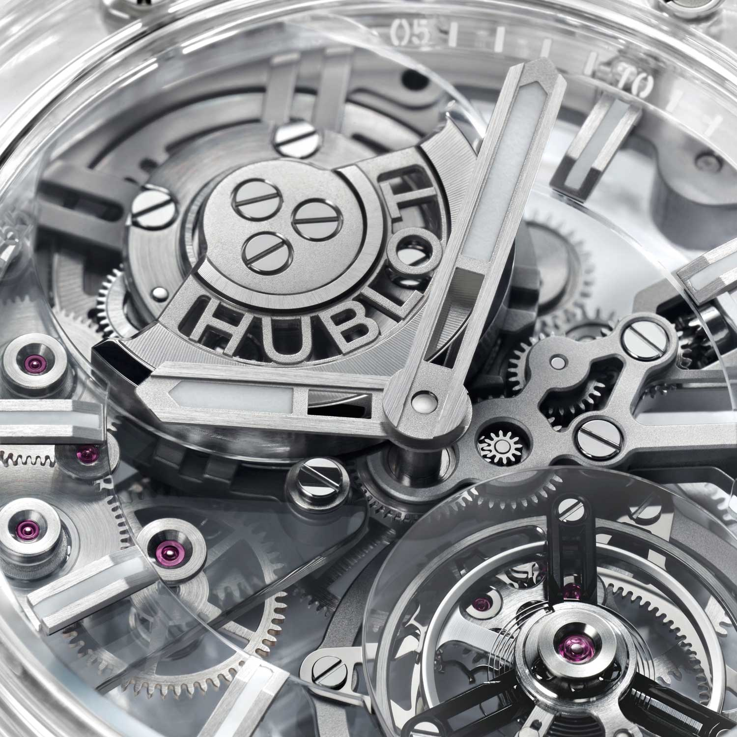 The watch is powered by Calibre HUB6035 that promises a power reserve of 72 hours