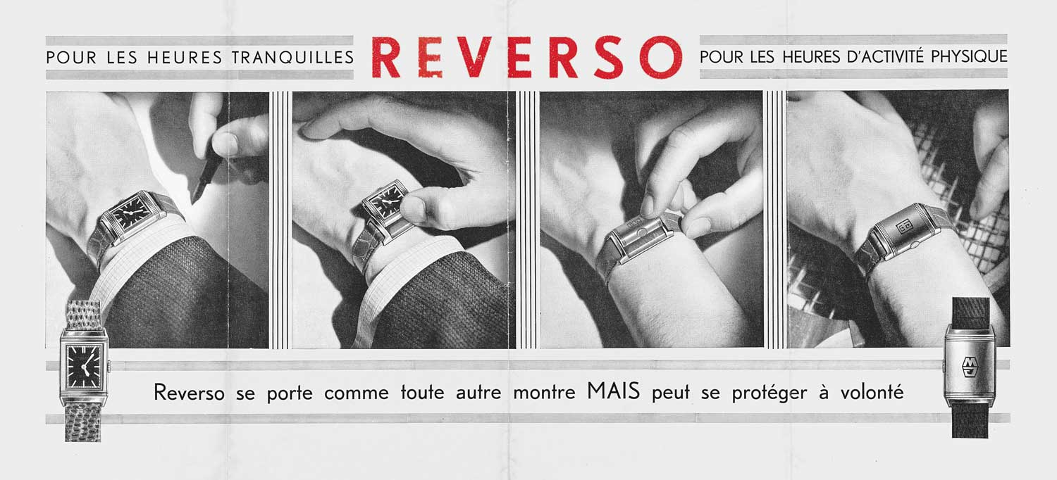 An old ad for the Reverso