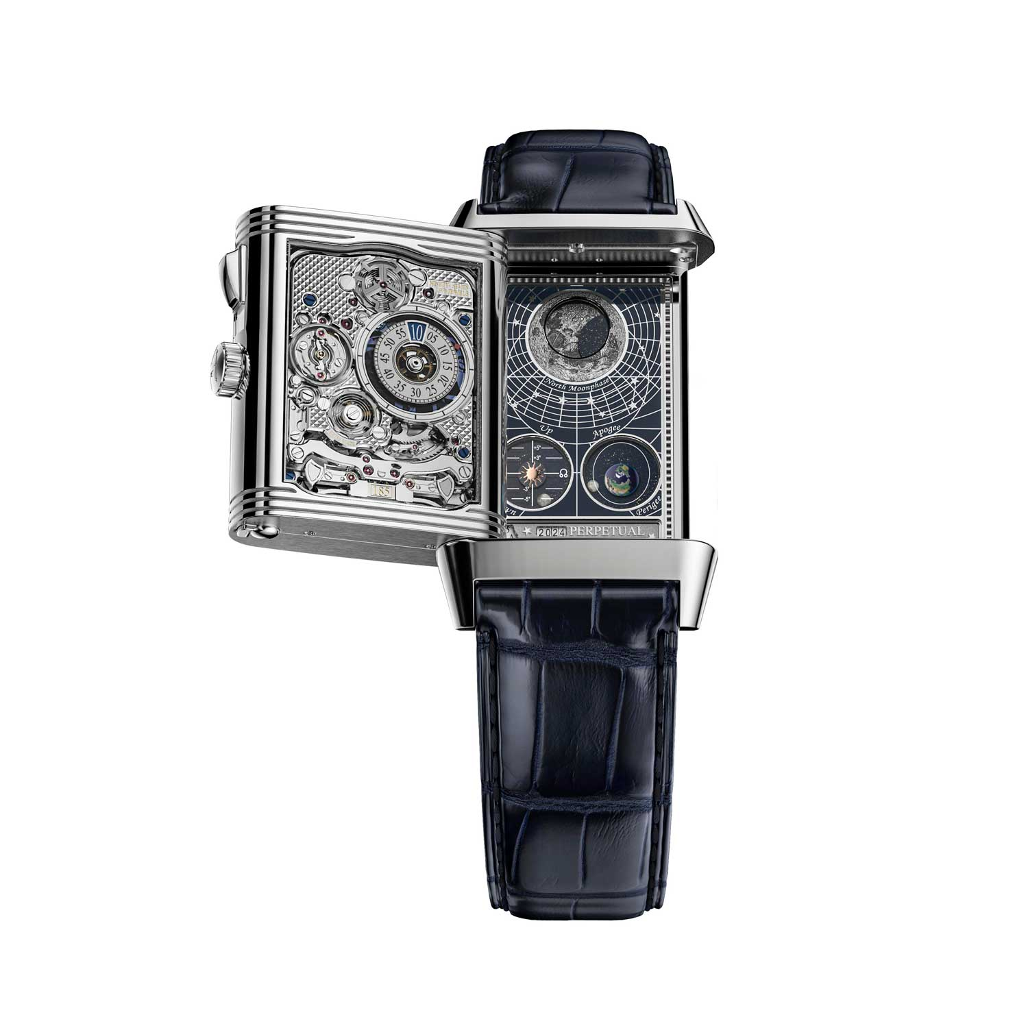 The Reverso Hybris Mechanica Quadriptyque is the world's first wristwatch with four functioning display faces.