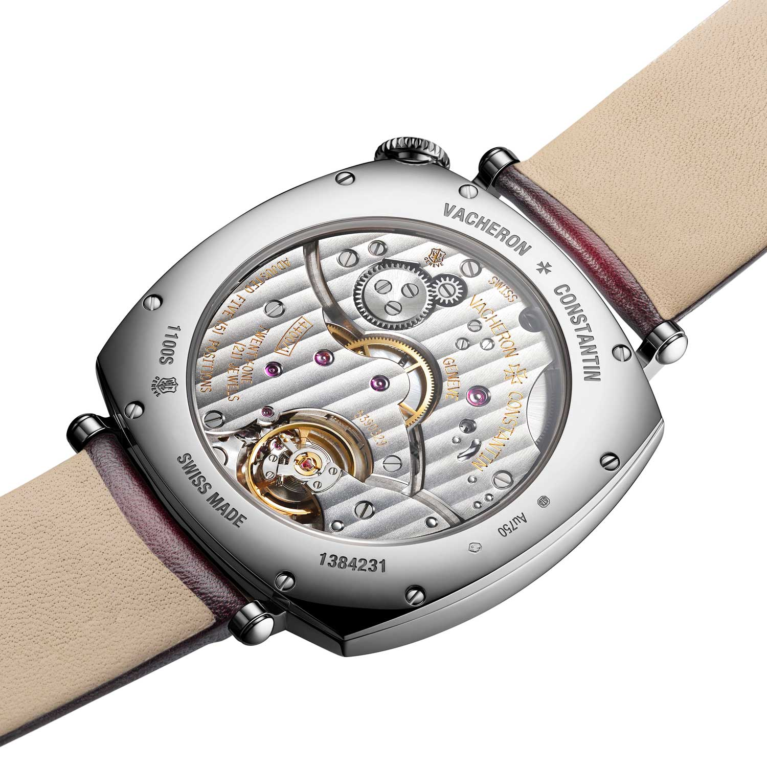 The watch is powered by caliber 4400 AS that delivers 65 hours of power reserve