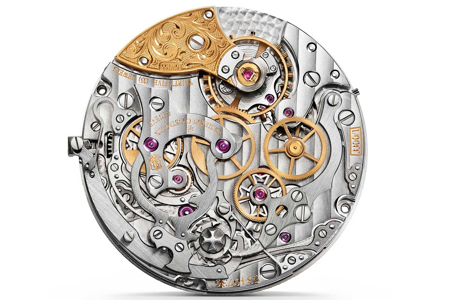 The Vacheron Constantin cal. 3300 with a clutch wheel that is made up of two stacked wheels that are driven by friction
