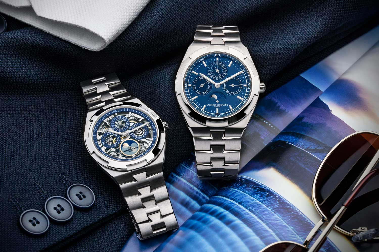 The Overseas Perpetual Calendar Ultra Thin Skeleton and the Overseas Perpetual Calendar Ultra Thin are powered by Calibre 1120