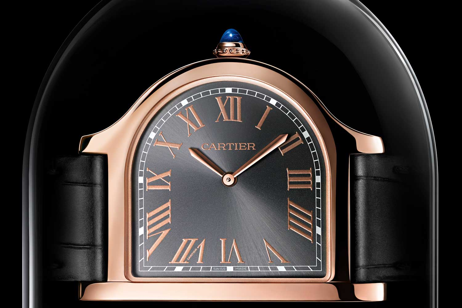 The new Cloche de Cartier in 18k pink gold is limited to 100 pieces.