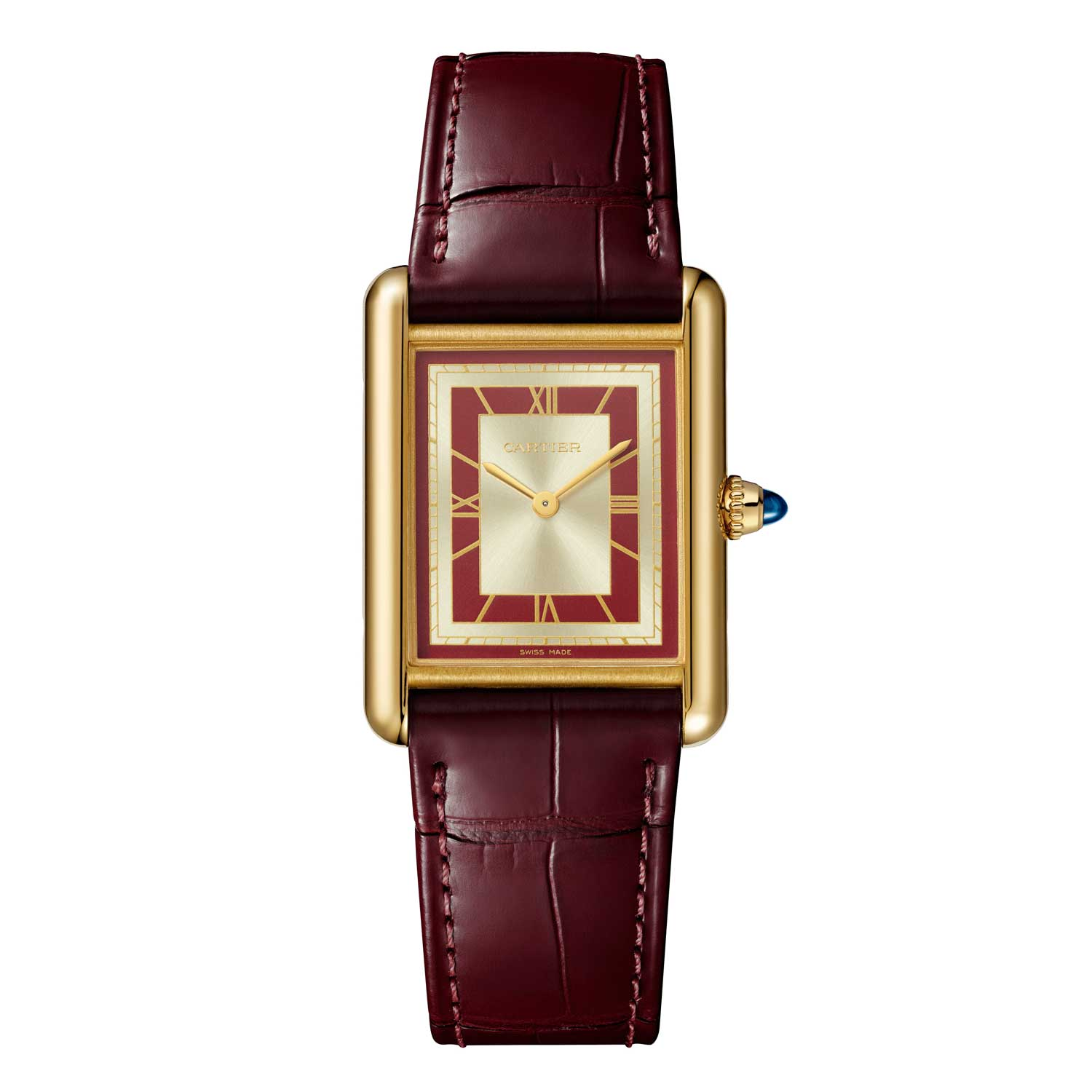 The Tank Louis Cartier watches includes two gold models both featuring stunning dials of the type seen in Les Must de Cartier watches