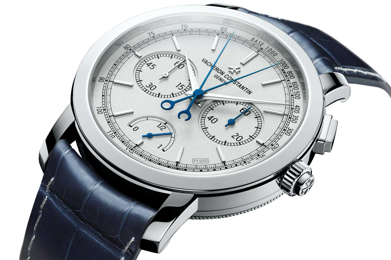 The use of a 60-minute chronograph counter at three o'clock creates a nice sense of symmetry relative to the seconds counter at nine o'clock.