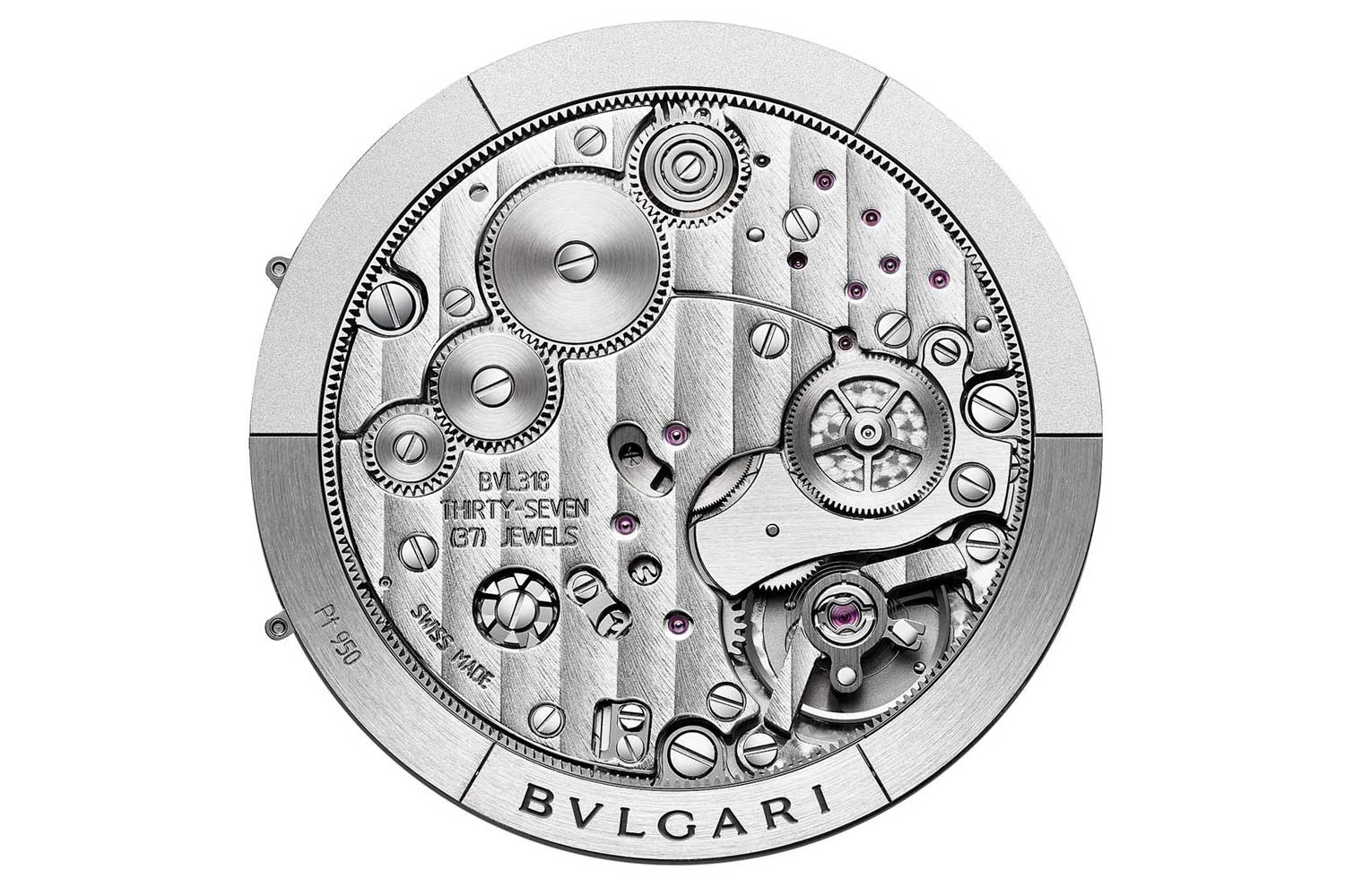 The ultra-thin cal. BVL 318 with a classically solid construction despite its height