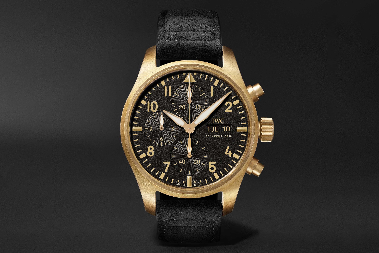 Introducing Mr Porter IWC Bronze Pilot Chronograph