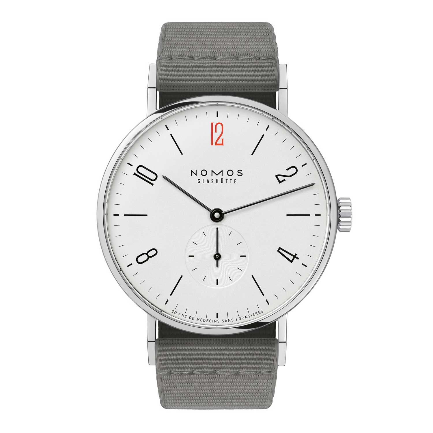 The polished steel case has a diameter of 37.5mm and a slim height of just 6.7mm.