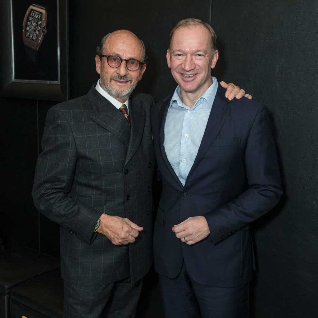 Richard Mille with CEO of McLaren Automotive, Mike Flewitt (Image: ©Didier Gourdon)