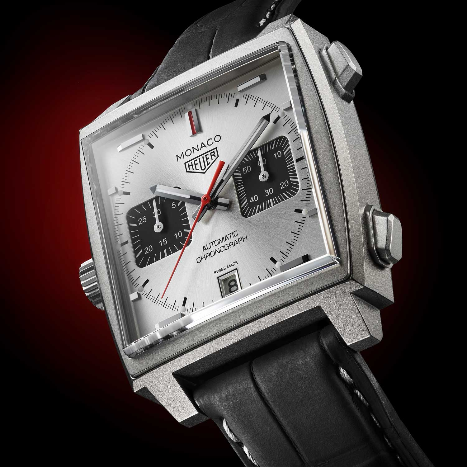 Made from Grade 2 titanium, the TAG Heuer Monaco Titan Special Edition is lightweight and strong