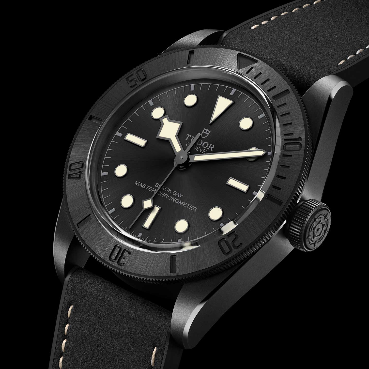 The Tudor Black Bay Ceramic Master Chronometer is the brand's first dive watch with a ceramic case with sandblasted finish, ceramic bezel insert, black dial and a display caseback