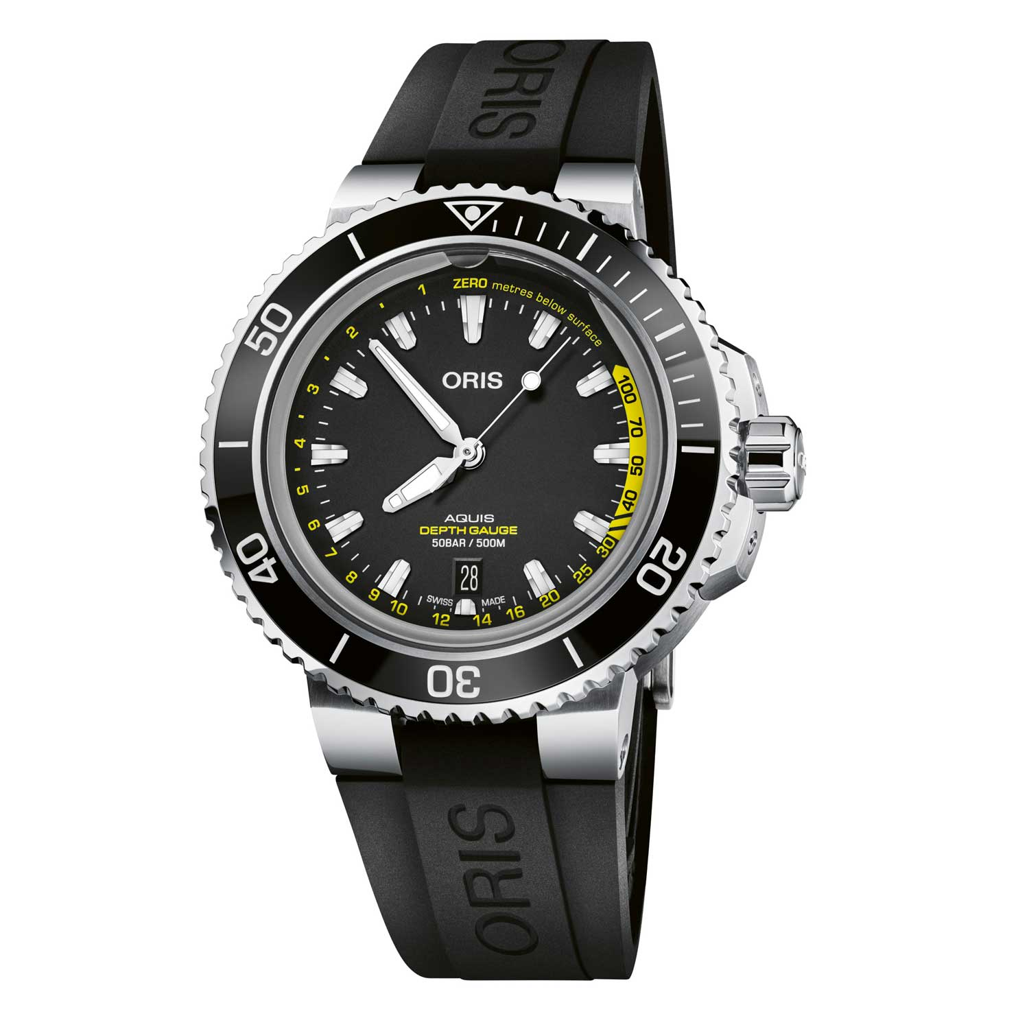 The Aquis Depth Gauge uses the scientific principles of the Boyle-Mariotte Law to create a gauge that clearly measures depth during a dive.