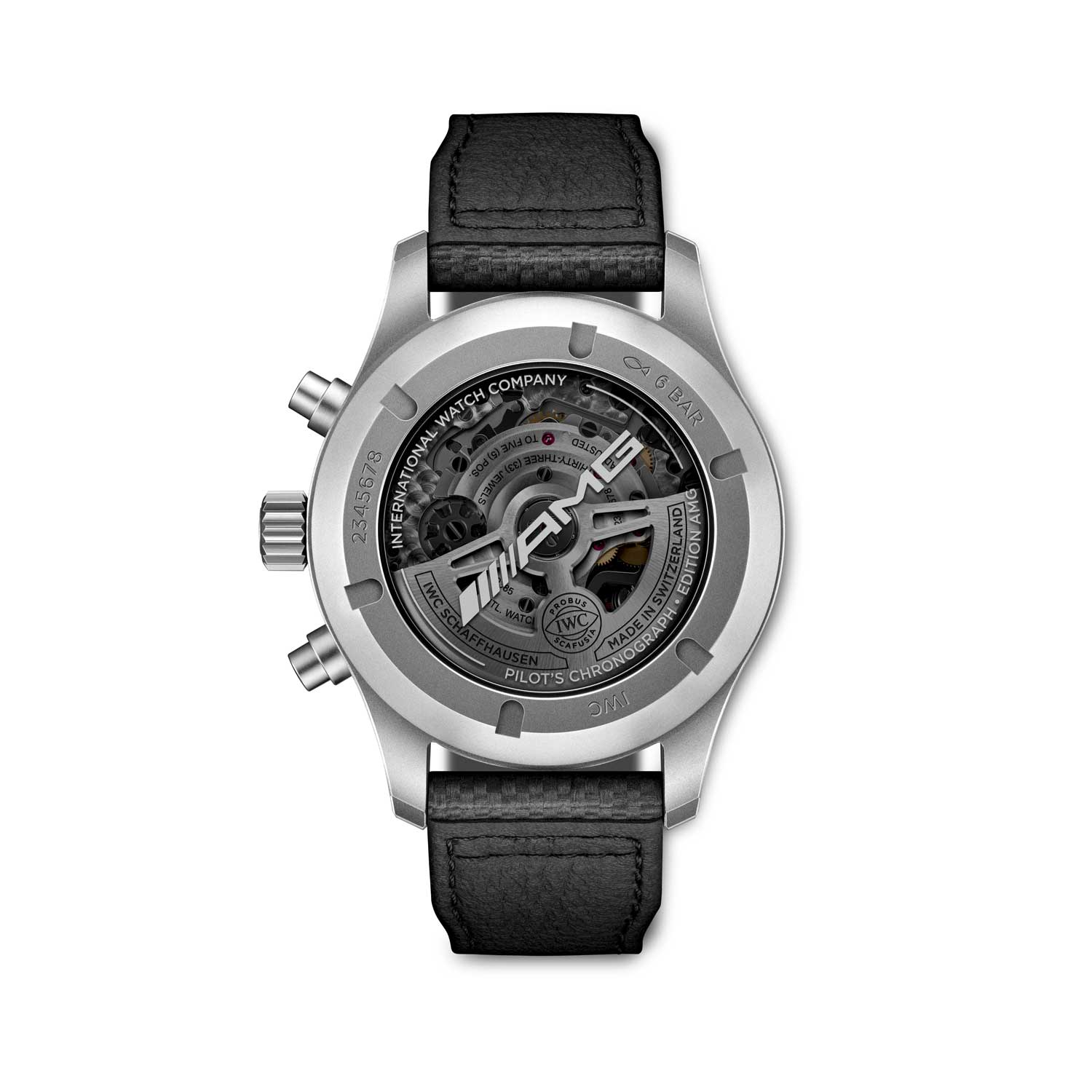 This is the first time IWC has used Caliber 69385 in a 43 mm case