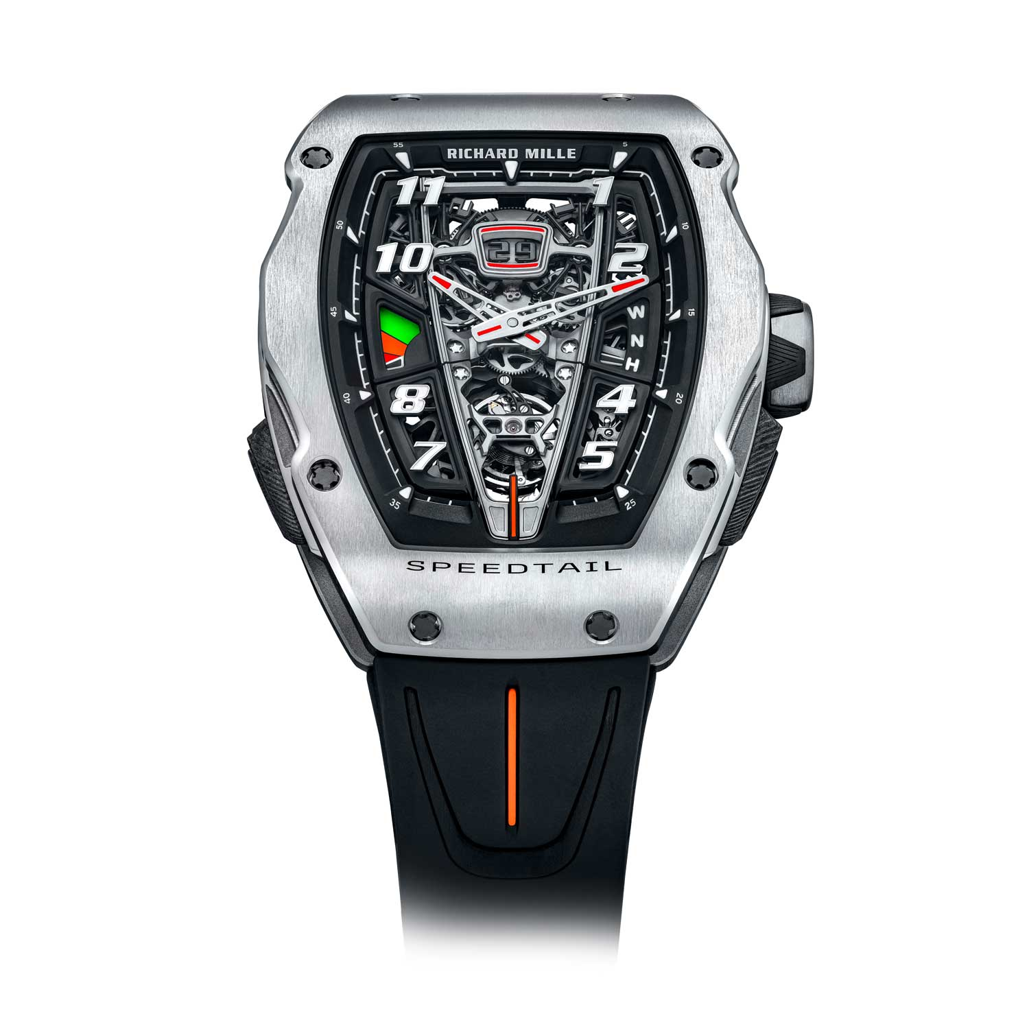 The RM 40-01 Speedtail is the third watch born out of the collaboration between the Richard Mille and McLaren