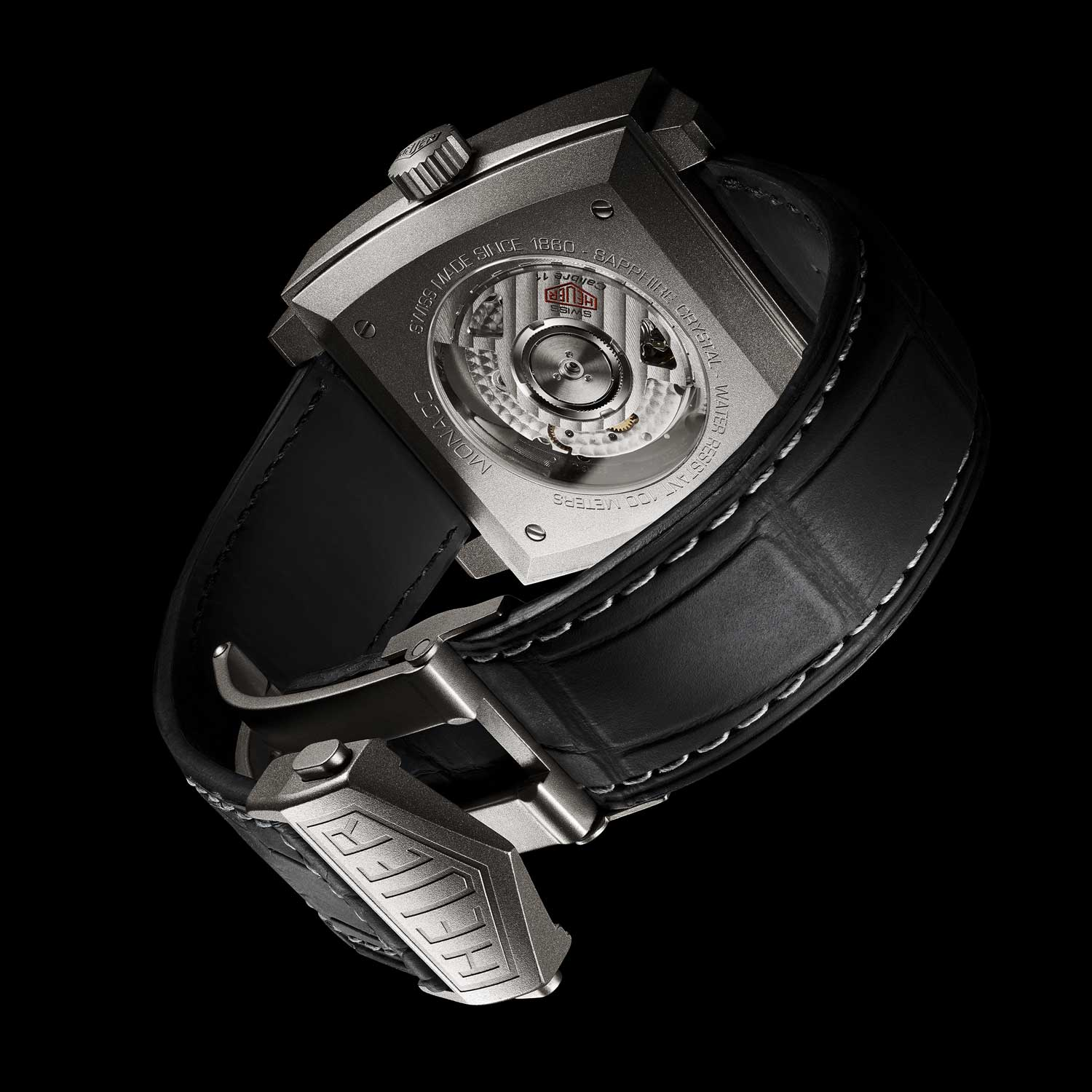 The watch is powered by TAG Heuer's Calibre 11 Automatic chronograph