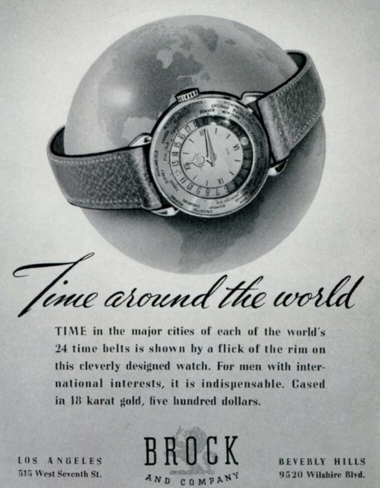 Old advertisements for Patek Philippe world timers (Image: Collectability)