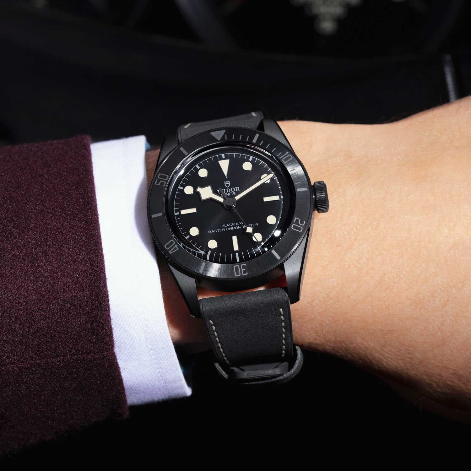 The Black Bay Ceramic is water resistant up to 200m