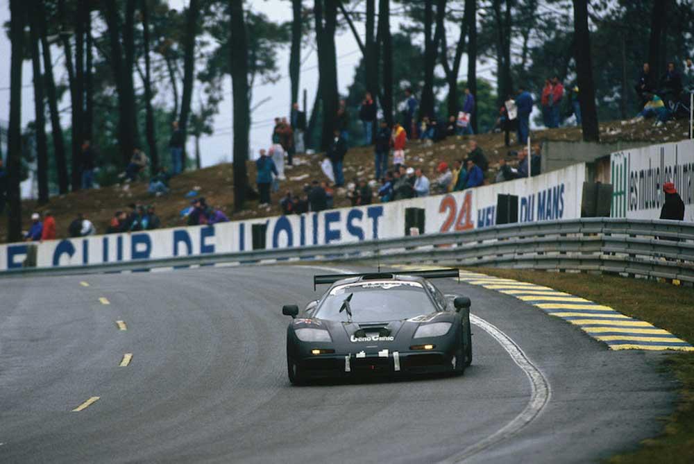 1995 Le Mans 24 Hours.The F1 pictured, driven by J.J. Lehto/ Yannick Dalmas/Masanori Sekiya came first.