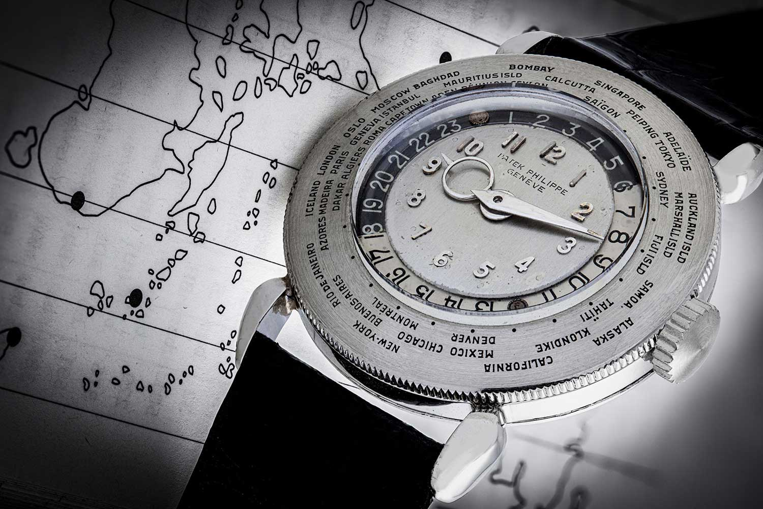The platinum ref. 1415 HU has its case, dial, hands and even the Arabic hour markers all made out of platinum (Image: Christie's)