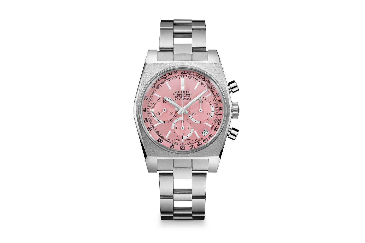 """Zenith pièce unique """"Cover Girl"""" with powder pink dial"""