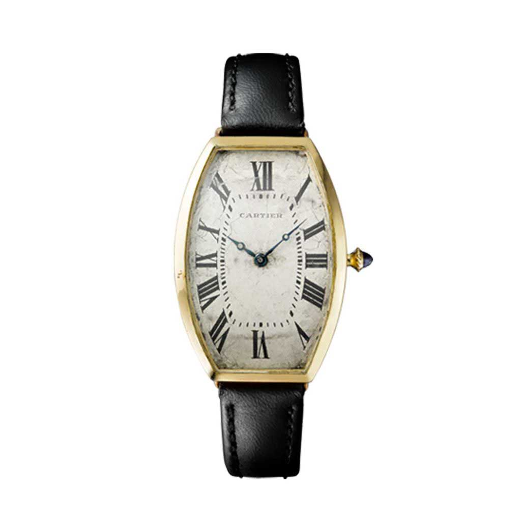 Tonneau wristwatch Cartier Paris, 1908 Cartier collection
