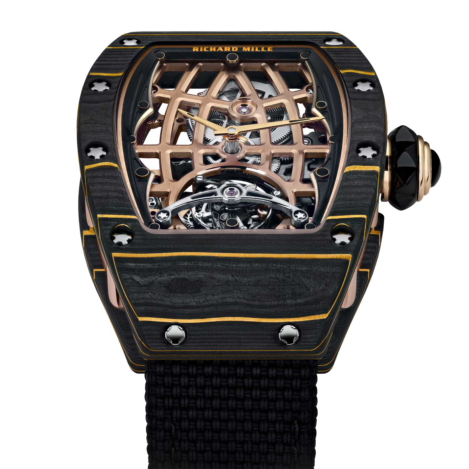 The RM 74-02 uses variable geometry to optimise the rotor's winding motion
