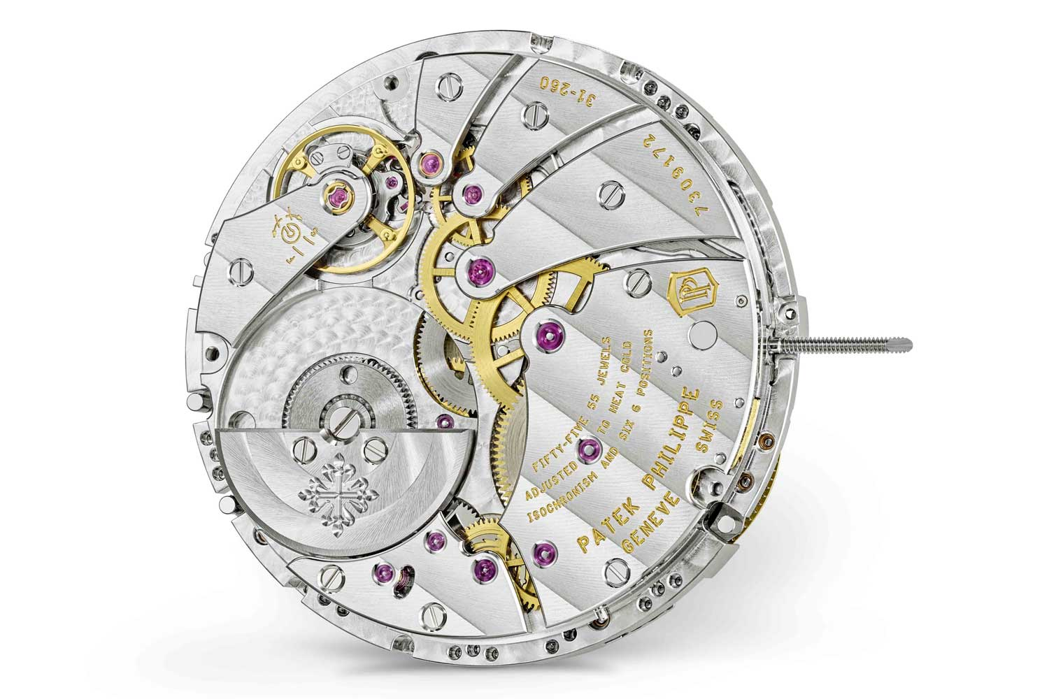 The caliber 31-260 PS QL with a recessed mini rotor and a customized module is a brand new movement for which three patent applications were filed