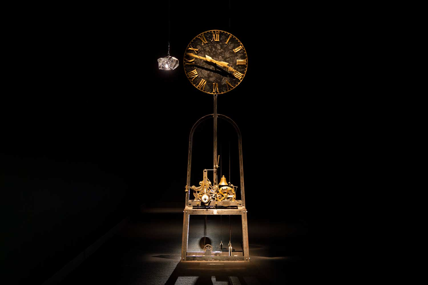 The 'Backward Clock' by Hiroshi Sugimoto at Cartier's exhibition in Tokyo