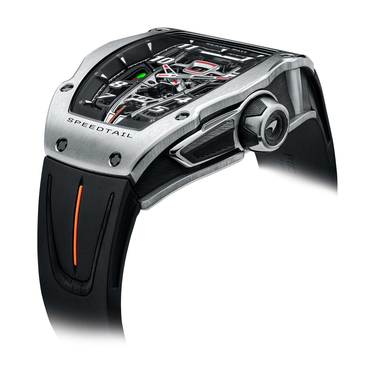 The watch entails one of the highest levels of finishing ever executed at Richard Mille