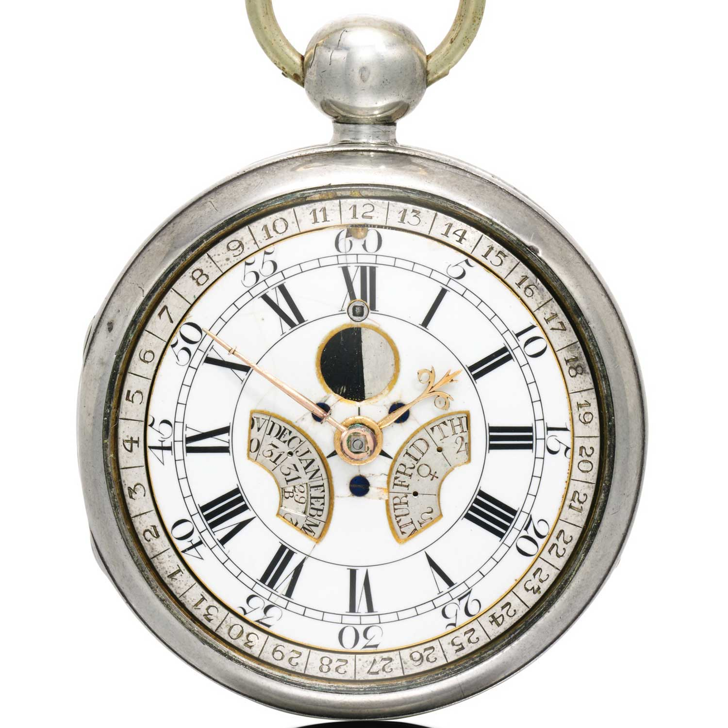 Earliest known perpetual calendar watch, created by Thomas Mudge in 1762 ( Image: Sotheby's)