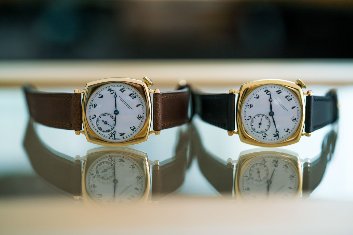 On the left you have the 2021 recreation of Cadman's original American 1921, which is the very watch on the right