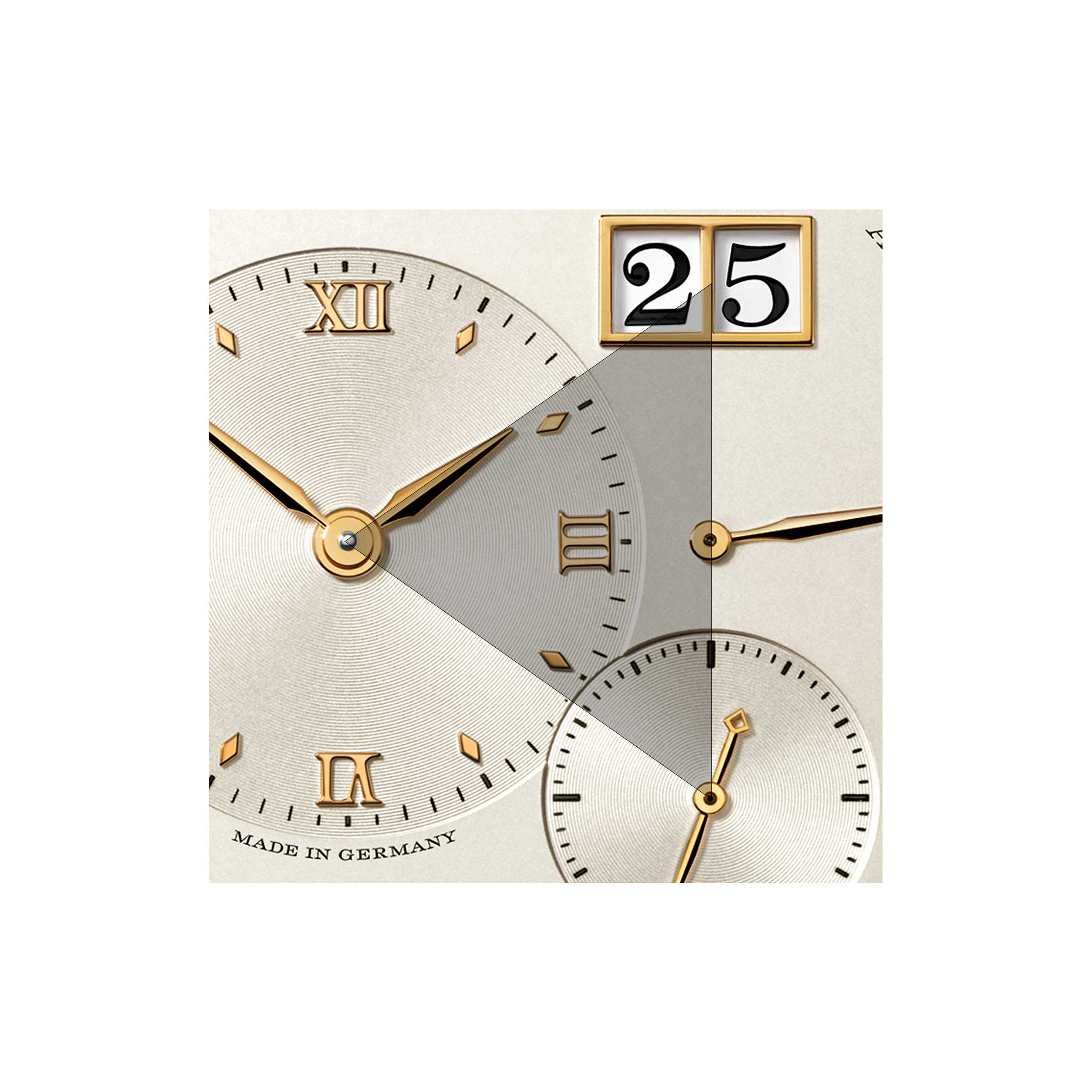 Sense and sensibility, on the seemingly chaotic dial of the Lange 1