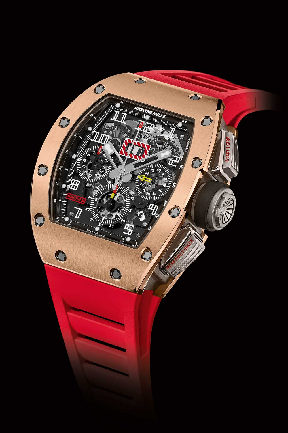 Richard Mille presented the RM 011 to Wei on his birthday in 2008