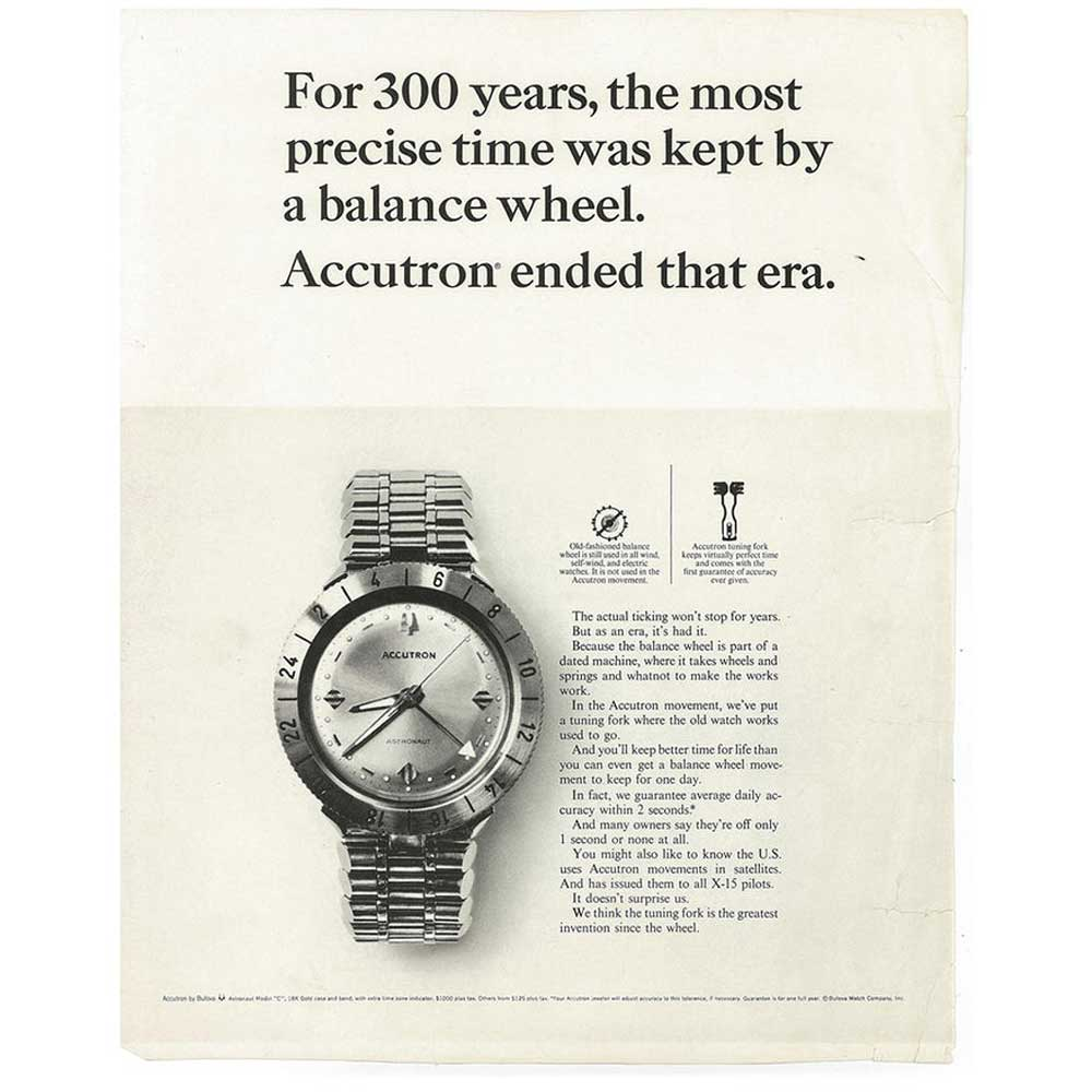 An old advertisement for Accutron