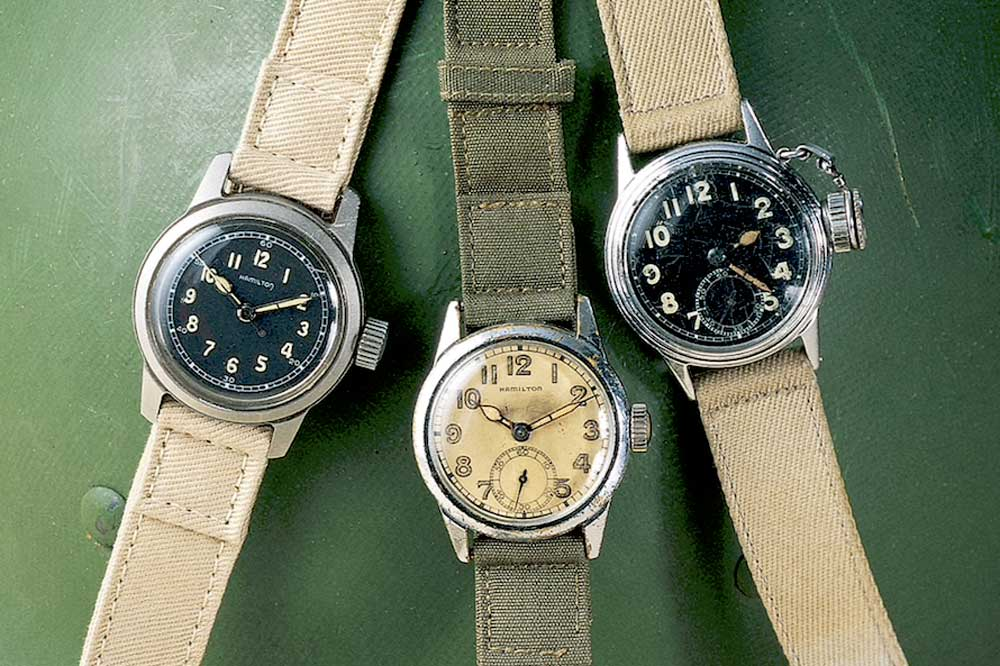 In 1942, Hamilton ceased all consumer-focused production and delivered more than one million timepieces to the armed forces during the war.