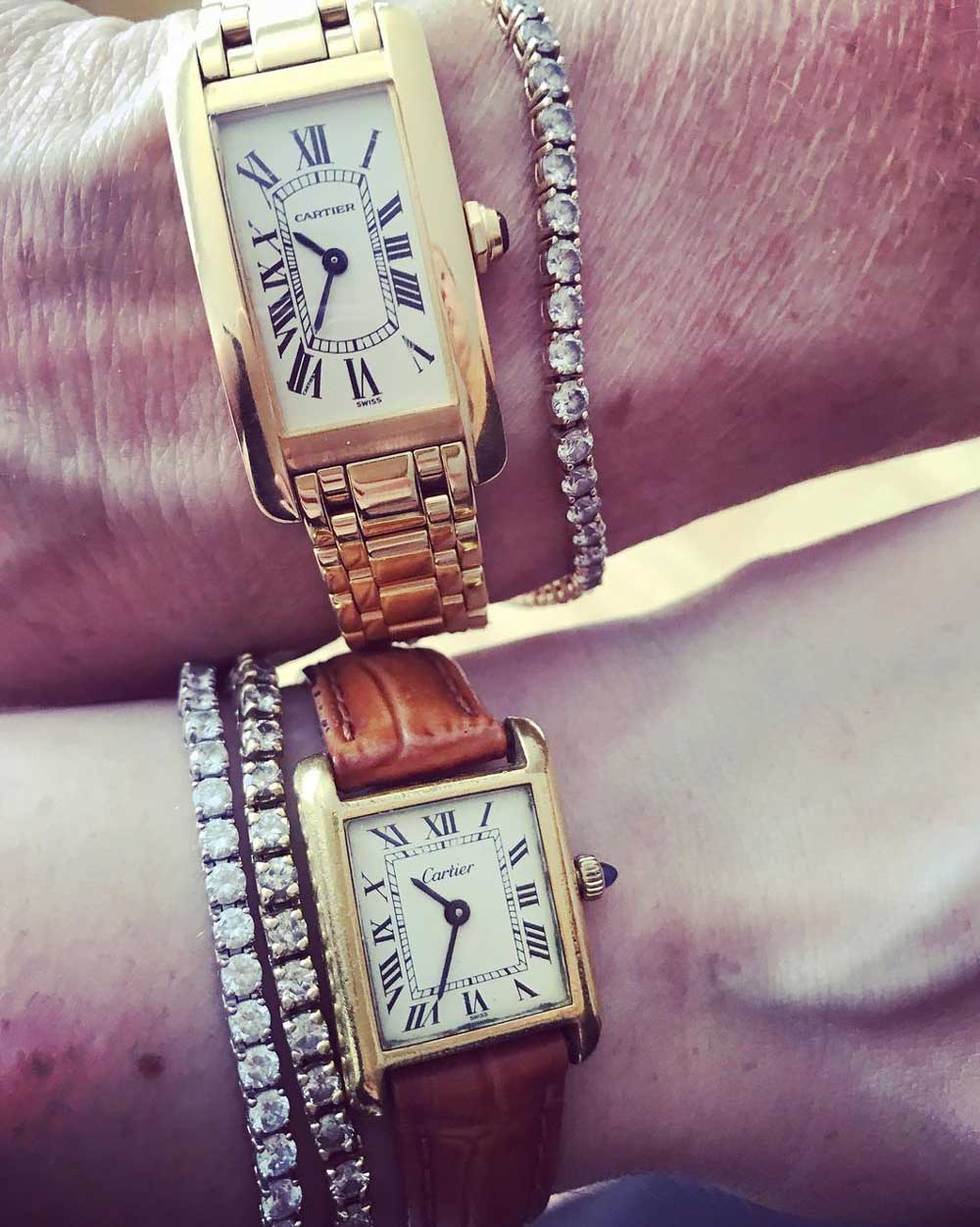 J.J.'s 1960s Cartier Tank and her mother's Américaine