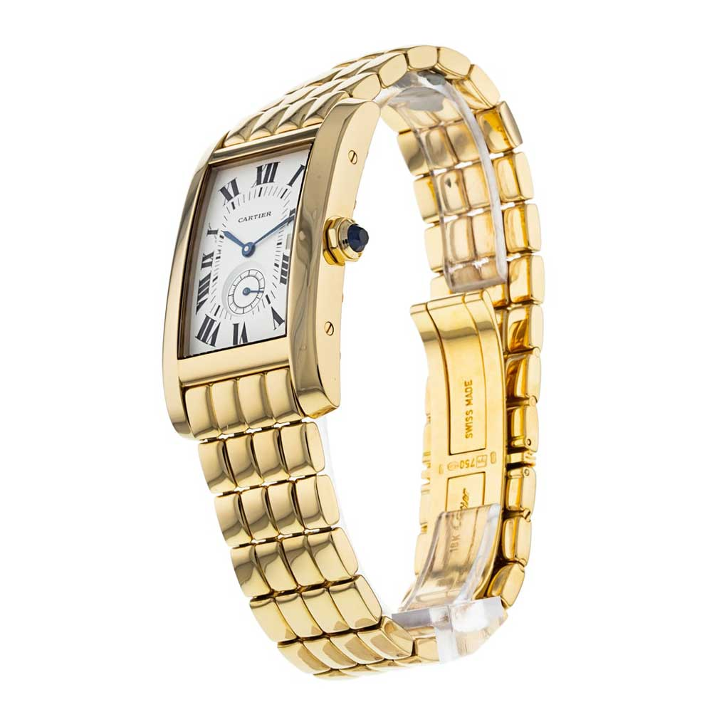 The present example of the Cartier Tank Americaine at our shop is from 1997