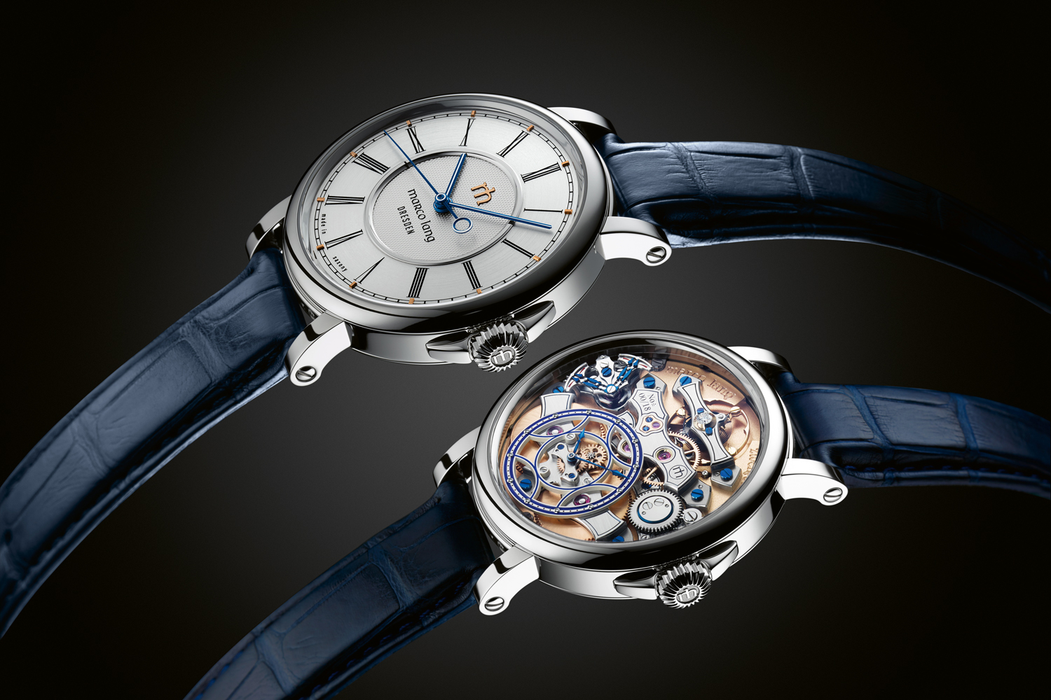 The Zweigesicht-1 allows the exquisitely finished movement to be turned around via removable lugs and reversible strap.